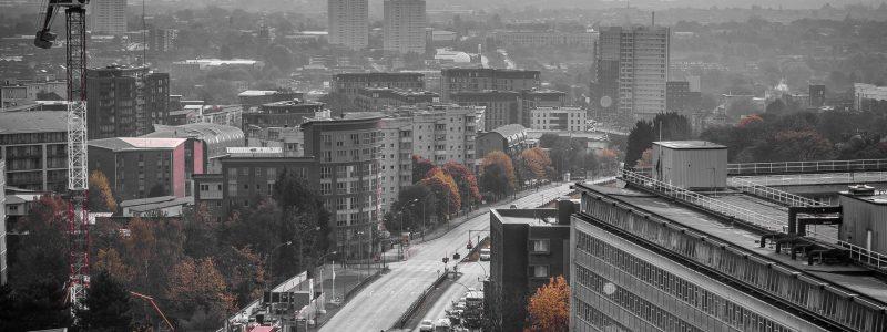 Aerial of Birmingham UK