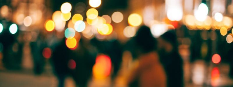 Urban Scene Blurry lights